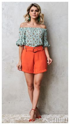 LOOK BOOK 09 • Coleção Salina • Cora Canela Look Con Short, Retro Look, Casual Chic, Color Combinations, Plus Size Outfits, Looks Great, Fashion Dresses, Chiffon, My Style