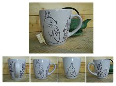 Totoro Mug by GnomelandCrafts on Etsy