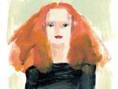 Donald Robertson's Portrait of Grace Coddington. Love.
