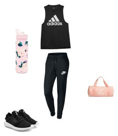 """Untitled #41"" by kennedy-lewis-1 on Polyvore featuring NIKE, adidas Originals, ban.do and adidas"