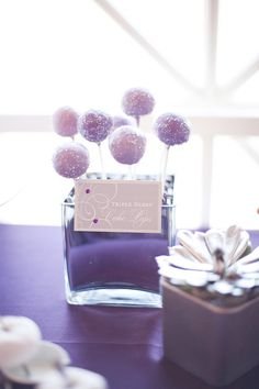 Purple berry cake pops. One Divine Party. Photography by emilygphotography.com,