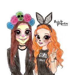Happy October! @JennaOrtega and @FrancescaCapaldi are so gorgeous on one photo posted on Francesca instagram, so I decided to draw them a few days ago! I hope you like it! I post this drawing on my facebook.com/nadadeperfectas, the...