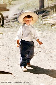 Adorable Amish boy
