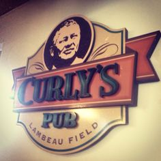 Curly's Pub at Lambeau Field. Gonna miss this place! Curly Lambeau, Green Bay Packers, Restaurant, Spaces, Restaurants, Supper Club, Dining Room