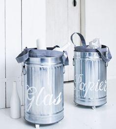Recycle bins. Ontwerp: Marieke de Geus. ariadne at Home