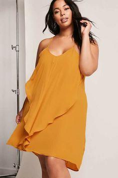9e40b0d54c322 Plus Size Flounce Cami Dress  plussize  fashionaddict aff Plus Size Looks