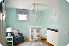 girls aqual blue room color