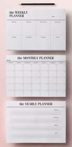 Planer zum Ausdrucken A5 Pack, 13 modernen Organizer-Seiten einschließlich Tagesplaner, Meal Planner, wöchentliche Agenda, To Do List, INSTANT DOWNLOAD von CrossbowPrintables
