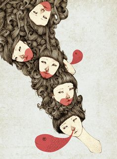 Jeannie Phan Hairy Illustrations