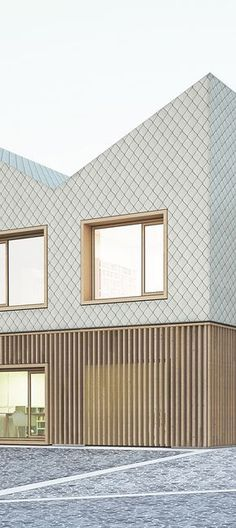 House of the little feet, competition, prize Architecture Résidentielle, Cabinet D Architecture, Commercial Architecture, Wooden Facade, Brick Facade, Kindergarten Architecture, Cades, Facade Design, Cladding