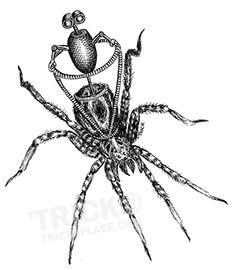 Spider Rider. Artwork by 'Trick. TricksPlace.com