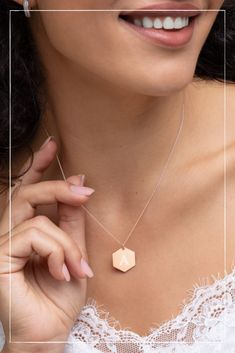 There's someone you can't stop thinking about? Well, this necklace says exactly that. You won't find a better and clearer way to tell them about it. Valentine Day Gifts, Jewelry Collection, Pearl Necklace, Jewelry Design, Drop Earrings, Sterling Silver, Chain, Pendant, Lovely Things