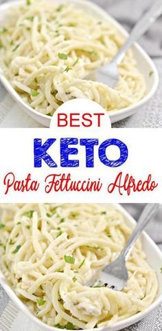 Low Carb Fettuccine Alfredo Pasta Noodle Idea – Homemade – Quick & Easy Ketogenic Diet Recipe – Completely Keto Friendly - Check out this EASY simple ingredient Keto Pasta! This fettuccini alfredo is so tasty. Easy keto re - Keto Pasta Recipe, Alfredo Recipe, Fettuccine Alfredo, Low Carb Recipes, Healthy Recipes, Healthy Food, Healthy Sugar, Low Fat Pasta Recipes, Quick Recipes