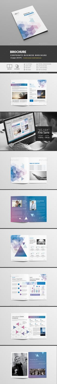Clean Modern Multipurpose Brochure Template Indesign Indd