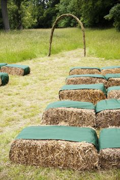 outdoor wedding haybales http://www.rowanlamb.co.uk/