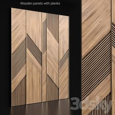 models: Other decorative objects - Wooden panels with planks Feature Wall Design, Wall Panel Design, Wall Decor Design, Deco Design, Wooden Partition Design, Wooden Ceiling Design, Office Wall Design, Wooden Partitions, Wooden Wall Panels