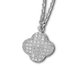 $125 , 16″ + 2″ Micro Pave CZ Pendant Necklace