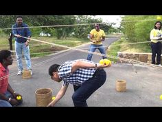 Ball Game with Ropes - Team building activity - YouTube
