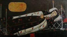 Anónimo, retrato funerario (post mortem) de sor Ana María del Tránsito y Silva (abadesa), beaterio de Carmelitas Terciarias Claustrales de Valladolid, óleo/tela, 97 x 1.64 cm., ca. 1800, colección: Monasterio de la Sagrada Familia, O.C.D., Morelia, Mich., México, catalogación por Juan Carlos Cancino.