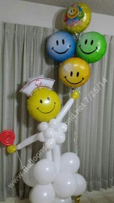 #Lollipop #Nurse #Get Well #Balloon Bouquet