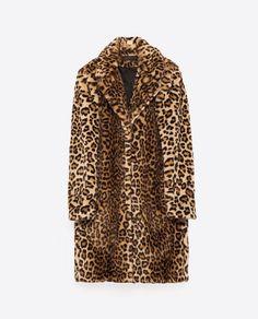 Vegan FAUX FUR LEOPARD COAT from Zara