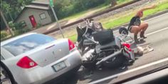 Road Rage Video Shows Florida Driver Crushing Veteran's Motorcycle With His Car Angry Words, Moving To Florida, Road Rage, Crushes, Motorcycle, Running, Car, Tampa Florida, Police