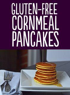 Recipe: http://glutenfreeonashoestring.com/cornmeal-pancakes/