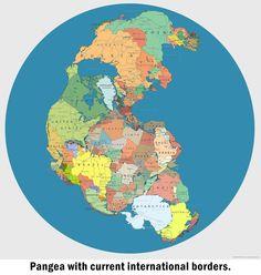How Pangea borders would like now