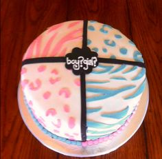 Gender Party Cake!!!!