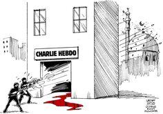 L'omaggio dei vignettisti di tutto il mondo a Charlie Hebdo | Servizio Pubblico