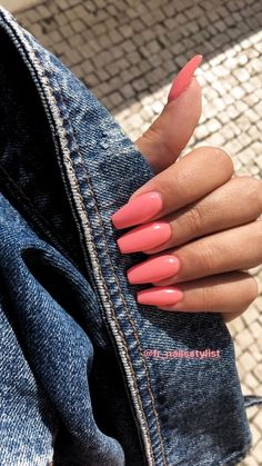 beautiful different color coffin nails ideas f. beautiful different color coffin nails ideas for prom and wedding 11 – Nail – Bright Summer Acrylic Nails, Simple Acrylic Nails, Best Acrylic Nails, Bright Pink Nails, Simple Nails, Coffin Acrylic Nails, Acrylic Nail Designs For Summer, Pink Tip Nails, Colourful Acrylic Nails
