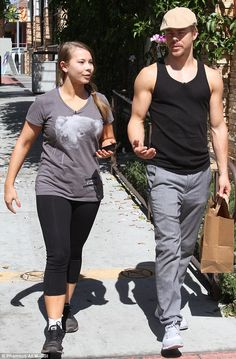 Taking a breather! Bindi Irwin and her dancing partner Derek Hough took a break from Dancing With The Stars rehearsal to grab some items at Walgreens in Hollywood on Tuesday