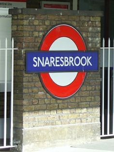 London Tube Snaresbrook Station Sign