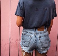 Levi denim cut-off shorts