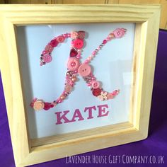 Personalised Elegant button letter with by LavenderHouseGiftCo