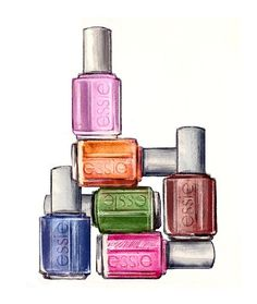 nailpolish fashion art print - Google Search