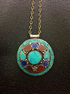 A personal favorite from my Etsy shop https://www.etsy.com/listing/453995284/tibetan-silver-turquoise-l-stone-long