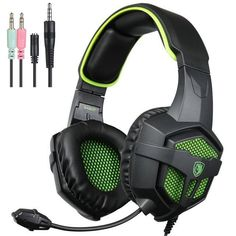 Sades 807 3.5mm Wired Gaming Headset Headphone Microphone LED for Xbox one PS4 #SADES