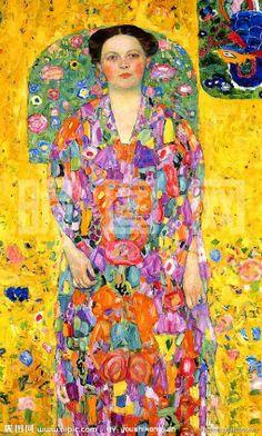 Portrait Of Eugenia Primavesi, (1913) - Gustav Klimt