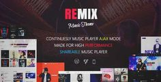 Download and review of Remix - Music band and Musician AJAX WordPress Theme, one of the best Themeforest Entertainment themes