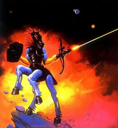 this is what time it is in my imagination thank you, Ken Kelly - Centaurus, Micronauts Card