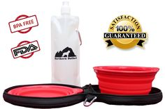 Northern Outback SuperSized Travel Pet Bowl Carrier Kit has TWO 5 CUP Silicone bowls, a BONUS 2 CUP Water Bottle and TWO Carabiner Clips! Excellent for all sizes of Dogs or Pets or hey, if you are a Camper or Hiker, this is for you! Liu Jo, Nursing Supplies, Dog Itching, Dog Dental Care, Dog Training Pads, Dog Food Storage, Dog Shower, Dog Shedding, Dog Travel