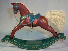 1983 Hallmark Keepsake Rocking Horse Christmas Ornament