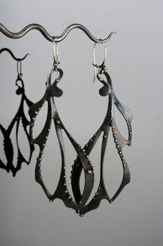 Mixed Metals Earrings. $205.00, via Etsy.