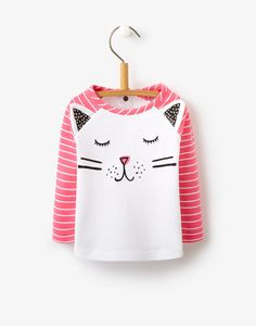 Catrin Neon Candy Stripe Jersey Top | Joules US