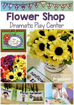 Flower Shop Dramatic Play by Play to Learn Preschool