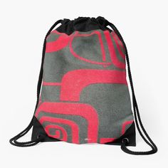 Backpack Bags, Drawstring Backpack, Iphone Wallet, Pouches, Woven Fabric, Backpacks, Shapes, Printed
