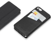"""KAVAJ """"Dallas"""" for the Apple iPhone 5 black - genuine leather with business card compartment"""