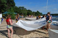 On the shores of Massachusetts  Sailing at Girl Scout Camp.