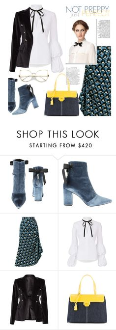 """""""Not Preppy, just Perfect!"""" by sara-cdth ❤ liked on Polyvore featuring Robert Clergerie, Marni, Caroline Constas, Tagliatore, Myriam Schaefer and Jason Wu"""